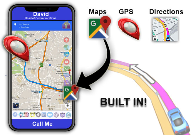 digital business cards built in google maps