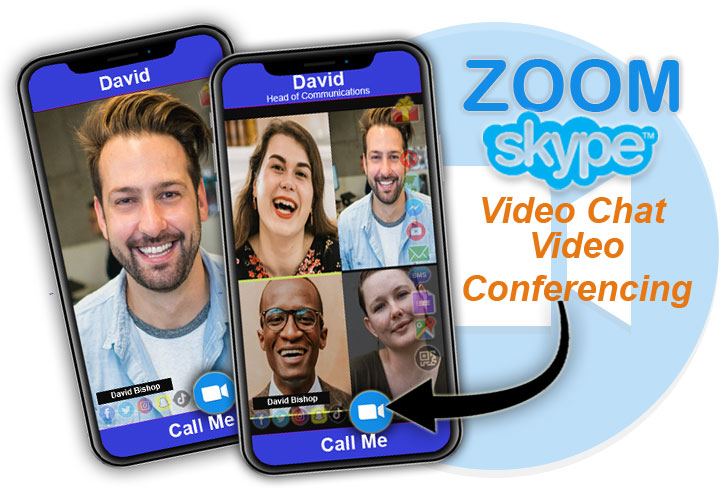 Video chat with FREE digital business cards