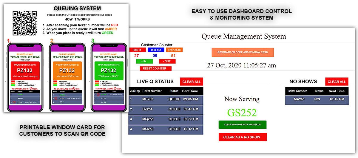 Virtual queue system