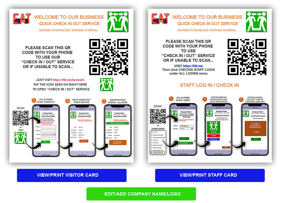 virtual check in check out software qr codes