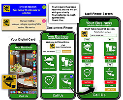 digital business cards virtual call a waiter system